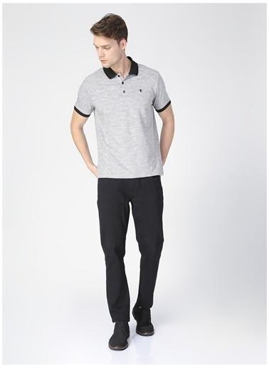 Fabrika Comfort Fabrika Comfort Erkek Gri Polo Yaka T-Shirt Siyah